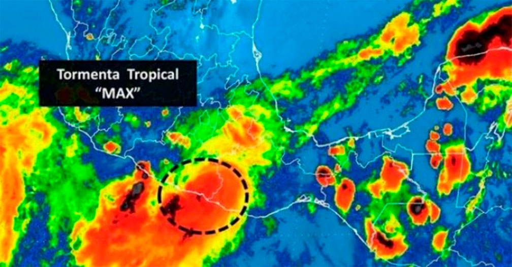 Se degrada Max a Tormenta Tropical
