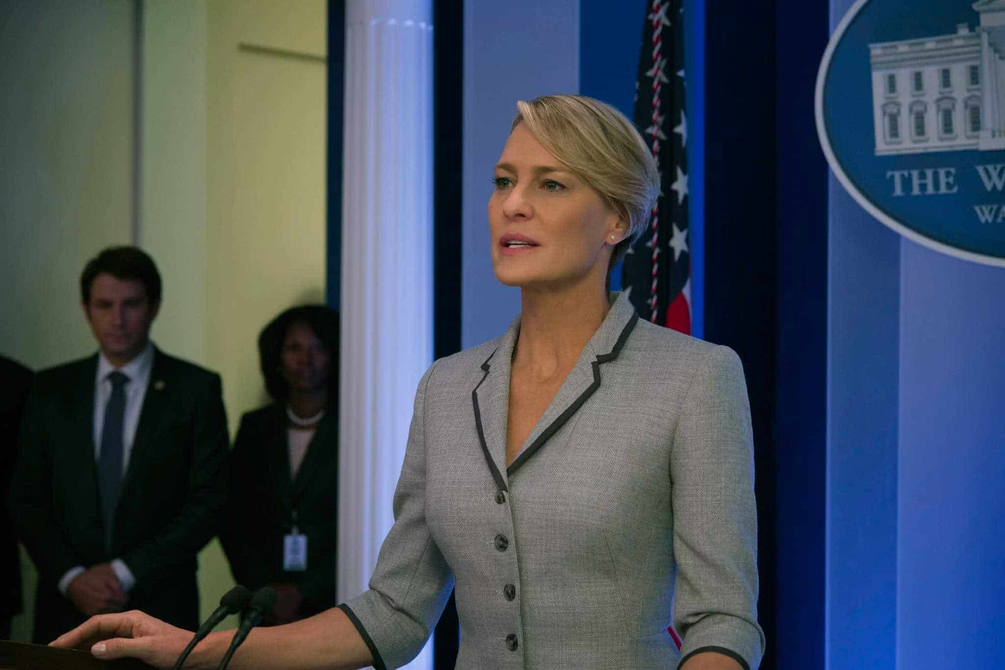 Última temporada de House of Cards tendrá a Robin Wright como protagonista