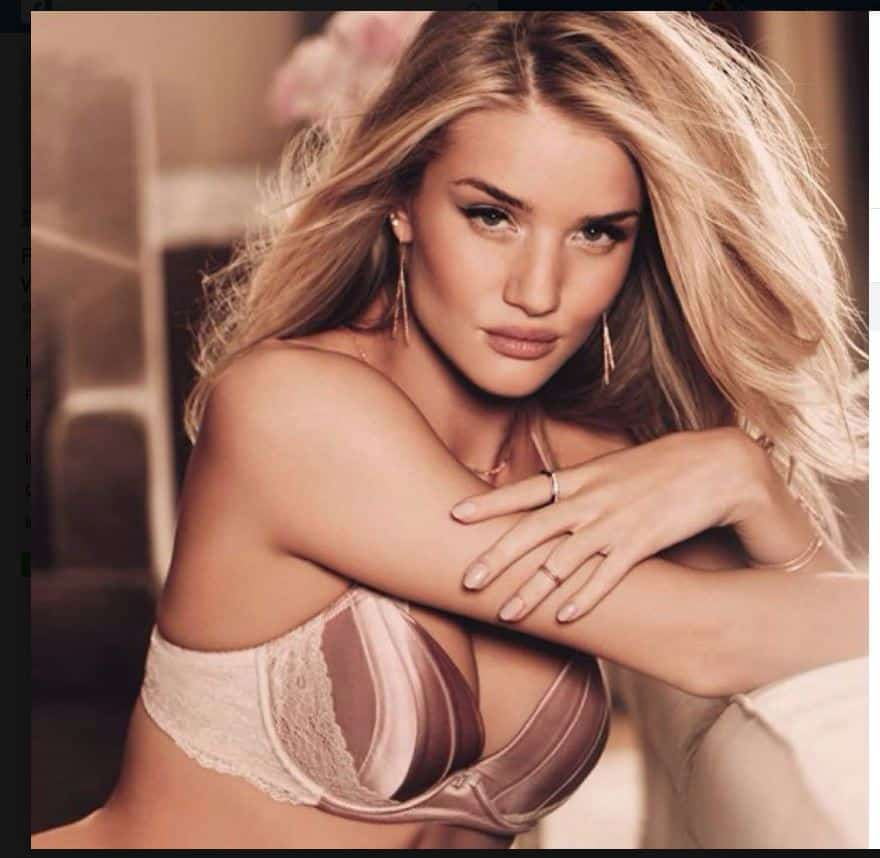 Rosie Huntington-Whiteley... ¡No quería ser modelo!
