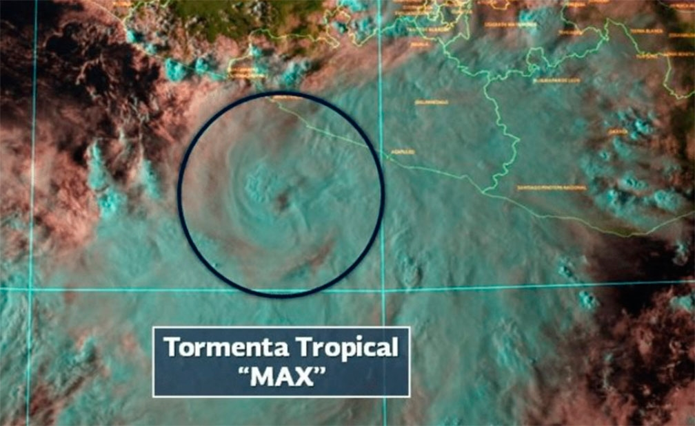Max se degrada a Tormenta Tropical