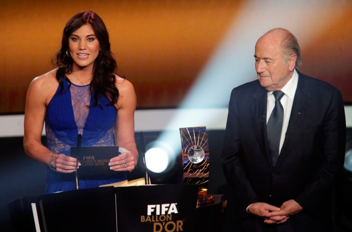 Hope Solo denuncia abuso sexual de Blatter en gala FIFA