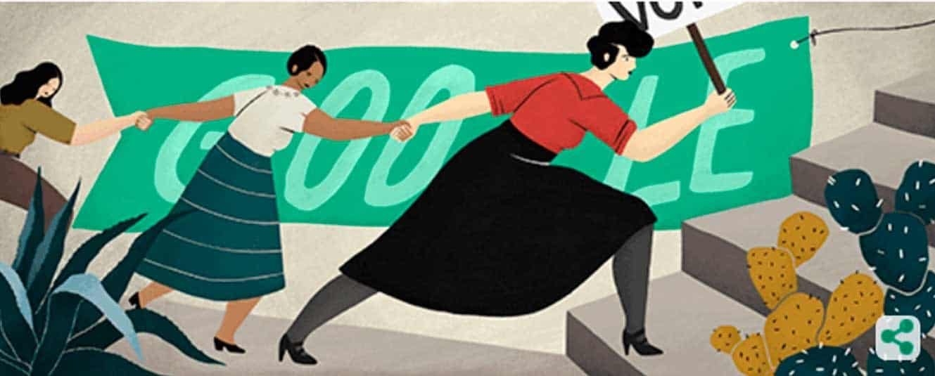 Google celebra a Elvira Carrillo Puerto, defensora del voto femenino
