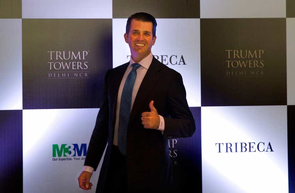 Velada con Trump Jr. en India cuesta $39 mil
