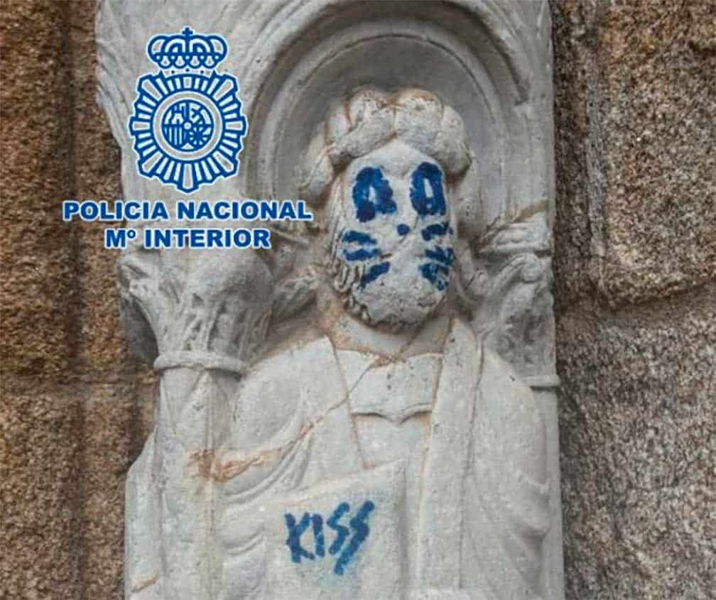 Recibirán multa por grafitti en Catedral de Madrid