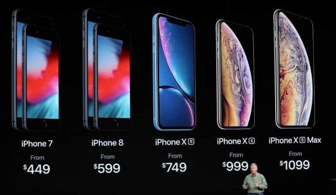 Dólar (19.04).iPhone 7: $8,548.96 - iPhone 8: $11,404.96 - iPhone XR: 14,260.96 - iPhone XS: $19,020.96 - iPhone XS Max: $20,924.96